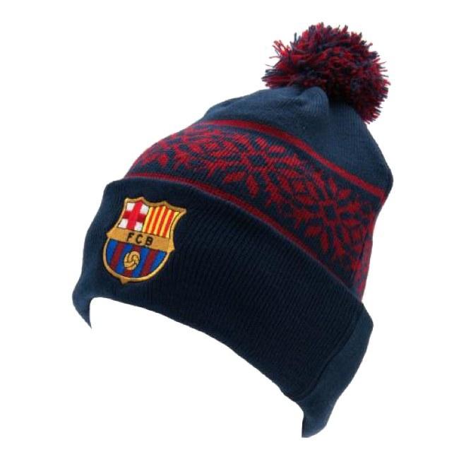 Pletená zimní čepice FC Barcelona