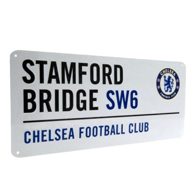 Cedule Chelsea FC bílá