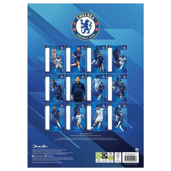 Chelsea nástěný kalendář 2021