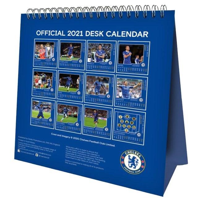 Stolní kalendář Chelsea 2021