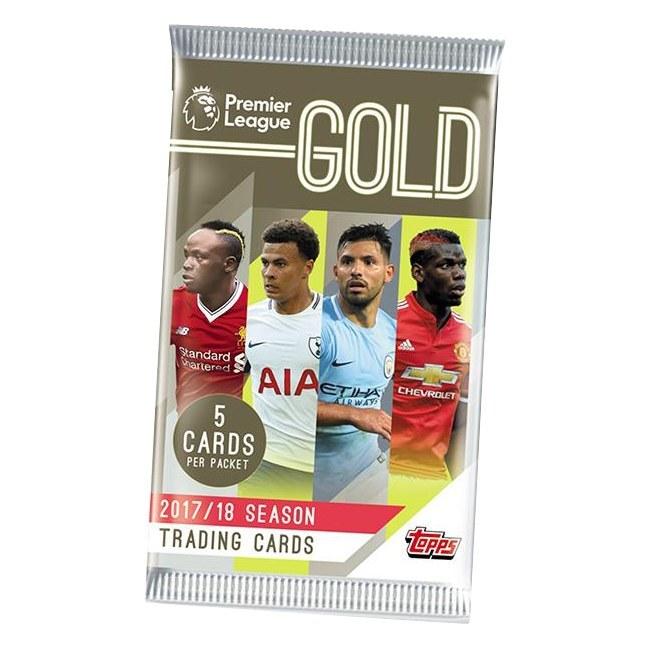 Balíček fotbalových kartiček Topps Gold Premier League 2017/18