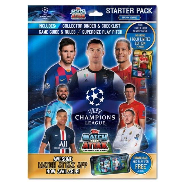 Starterpack fotbalových kartiček Topps Match Attax Champions League 2019/20