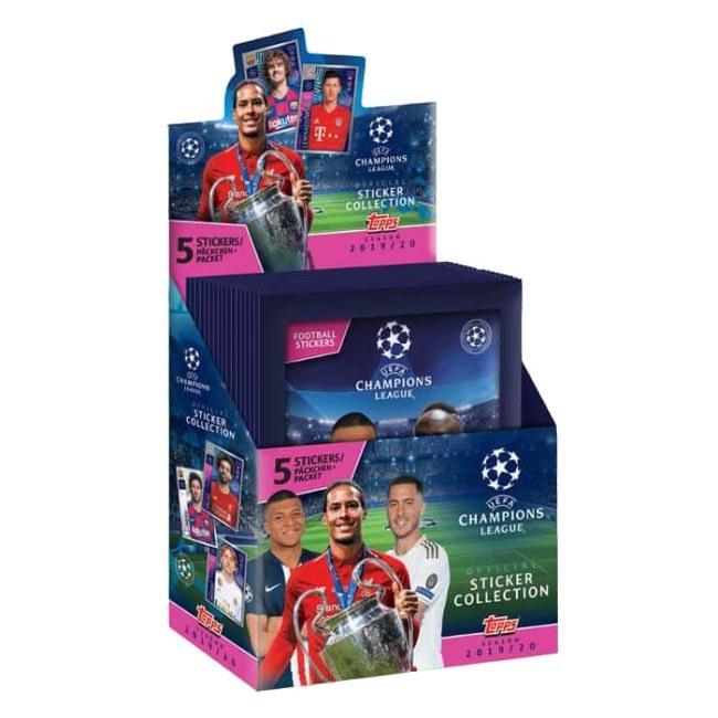 Balíček fotbalových samolepek Topps Champions League 2019/20
